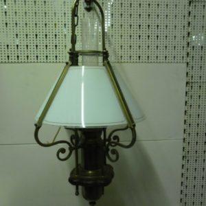 Zware koperen hanglamp