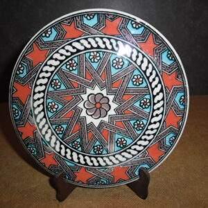 Turks aardewerk - Ronde wandtegel