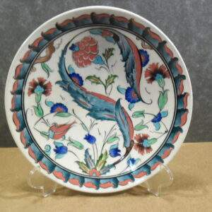 Turks aardewerk - Ronde wandbord