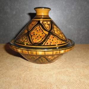 Tajine Tunesisch aardewerk schaal met deksel