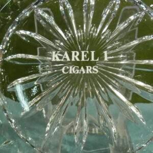 Kristallen asbak Karel 1