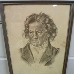 Schilderij, portret tekening, Paolo