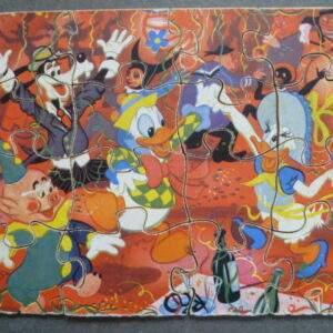 Oude puzzel van hout, Donald Duck