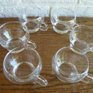 Set bolle glazen met oortje
