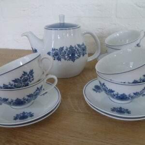 Mosa thee set, DE, theepot en 6 kopjes