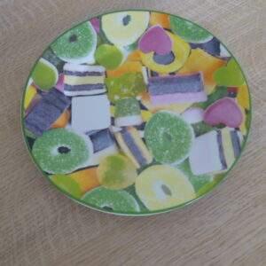 Ontbijtbordje met snoepafbeelding