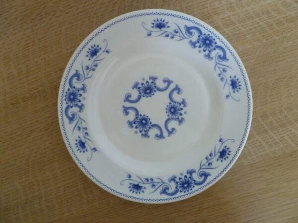 Rivanel, ontbijtbord, made in France, blauwe bloem