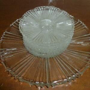 Glazen gebakstel met 10 schoteltjes