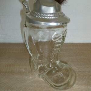Glazen BMF bierstiefel, origineel, made in Germany