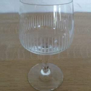 Geslepen glazen, set van 14 stuks, diverse maten