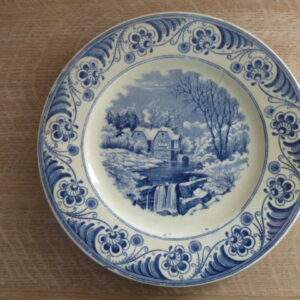 Sociëte Ceramique Maestricht bord, Landschap 4