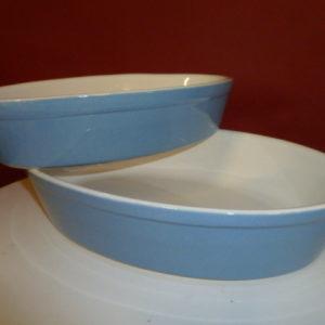 Set ovenschalen, ovaal, blauw, 2 stuks